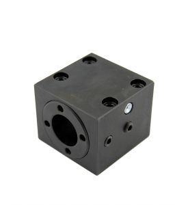 Clamping block 1 for round nut, spindle Ø25, pitch 5/10 mm, base securing