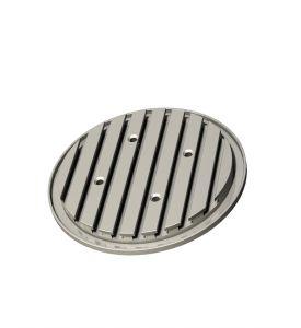 Aluminium-T-groove plates Ø 150, 240, 365 mm